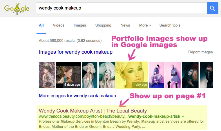 Show up on page 1 of google for your beauty services